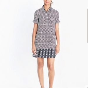 J.Crew Printed Shirt Dress Size 8